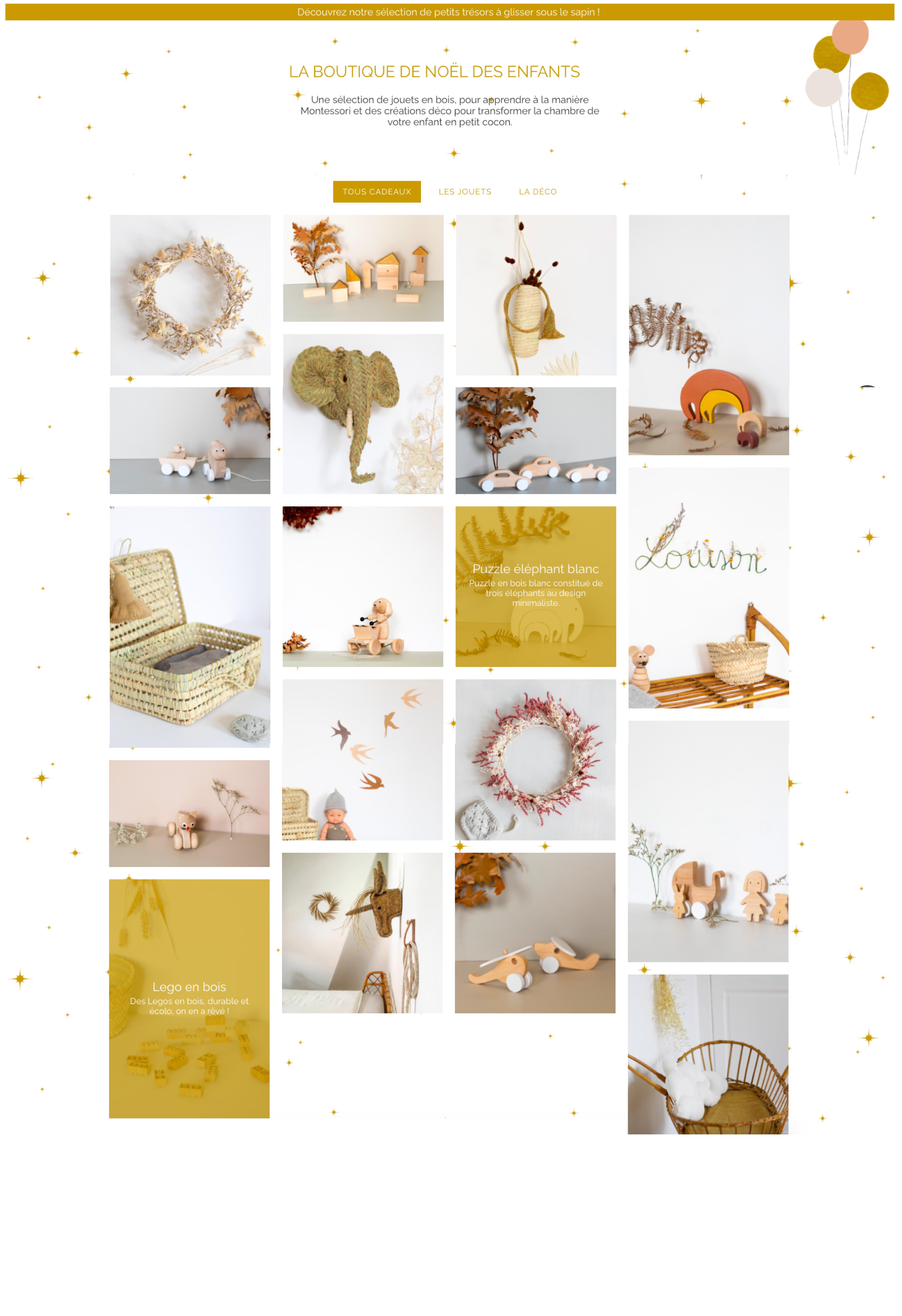 Webdesign thème Noël site e-commerce