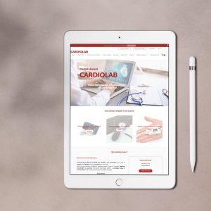 Site de e-commerce Cardio Lab pour la distribution de matériel de cardiologie, créé par le Studio Bono