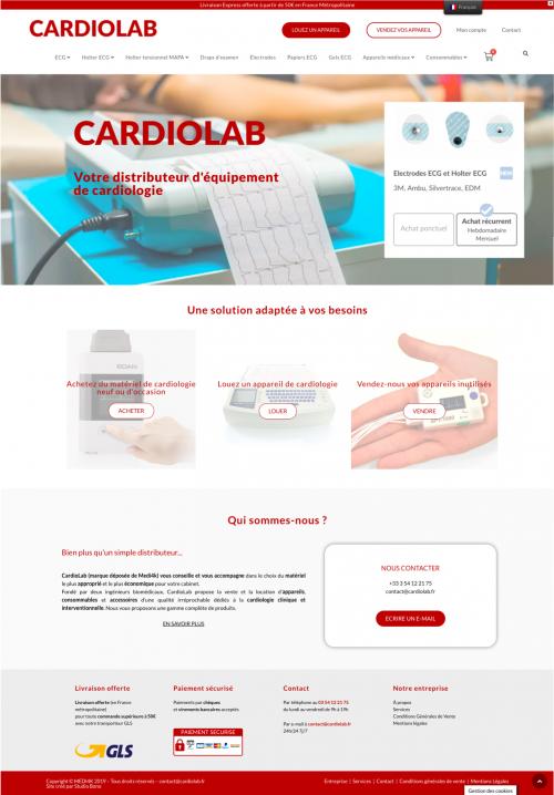 webdesign site internet distributeur de cardiologie