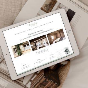 Réalisation d'un site vitrine pour présenter une maison d'hôte en Provence, par le Studio Bono
